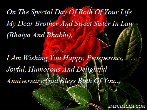 Anniversary Sms For Brother And Sister In Law