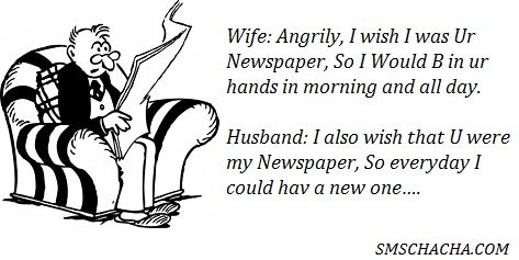funny husband wife jokes sms pics