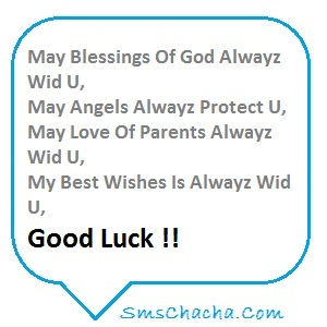 Good Luck Sms 140 Character