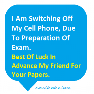 exam wishes in advance to your friend