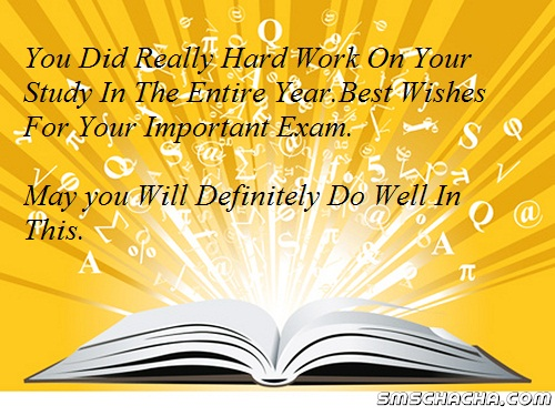 Best Wishes Sms Message For Exam