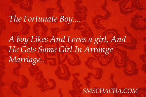 Fortunate Arrange Marriage Message