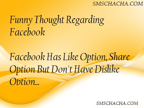 Facebook Funny Thought Sms