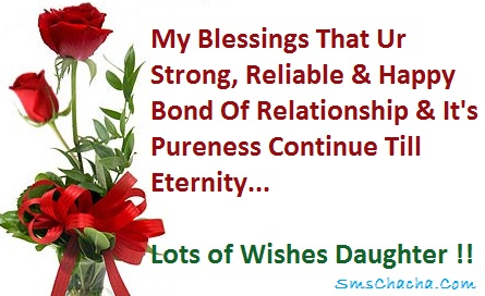 Anniversary Sms For Daughter