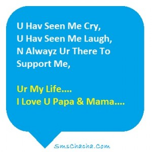 i love you parents sms