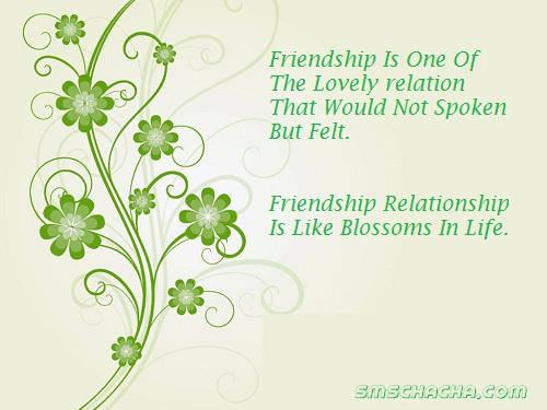 Friendship Sms One Line