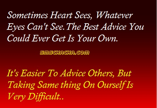 best sms quote on advice