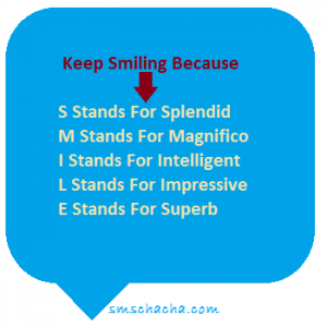 english smile best sms quotes