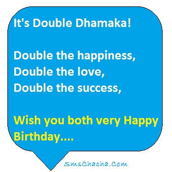 Birthday Sms For Twins