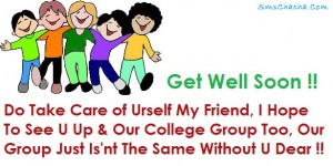 get well soon message best friend facebook