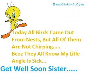 get well sister sms message facebook