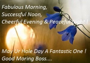 sms for wish good morning to boss