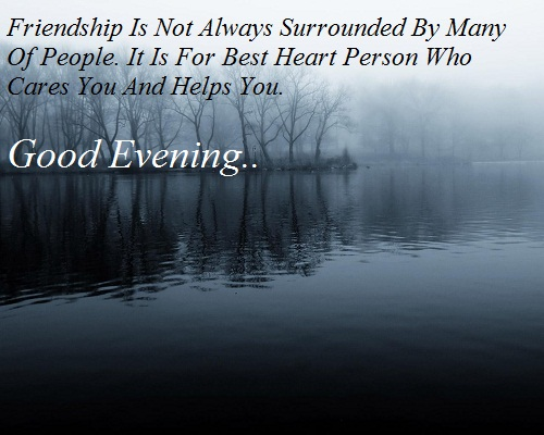 Good Evening Sms For Best Friend