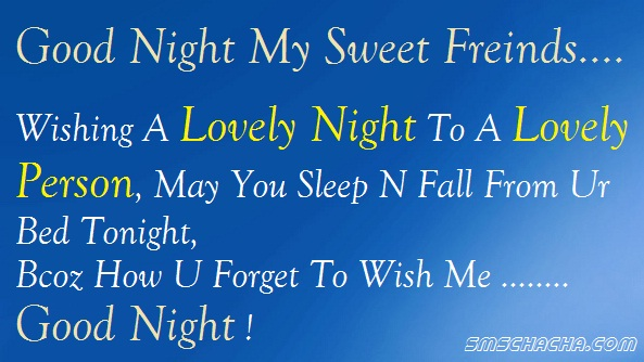 Good Night Sms Message Friend