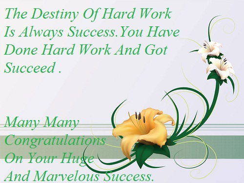 Congratulations On Your Success Sms