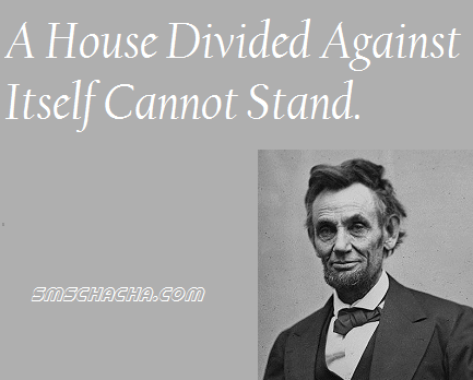 Abraham Lincoln Quotes House Divided Picture Sms Status Whatsapp Facebook