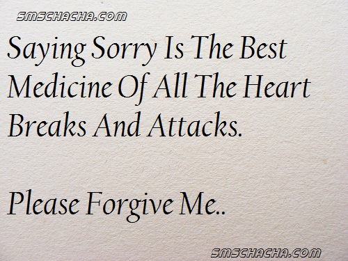 saying sorry sms image facebook