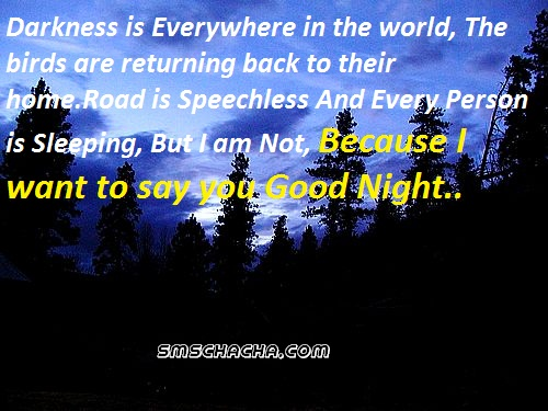 good night wallpaper sms facebook picture