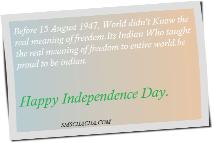 indian independence day wishes sms message advance