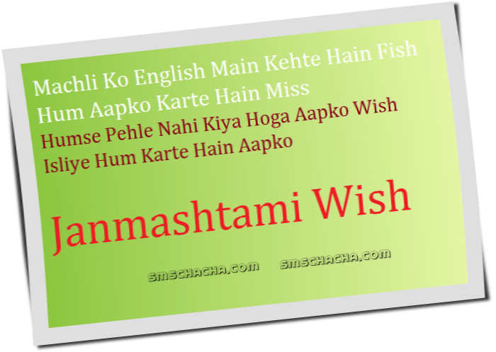 Funny Janmashtami Message