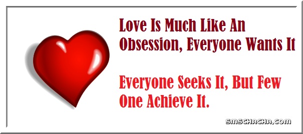 obsession love picture sms