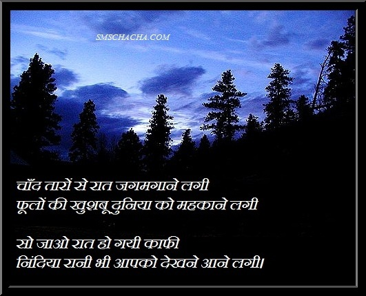 Good Night Sms Message For Friends In Hindi