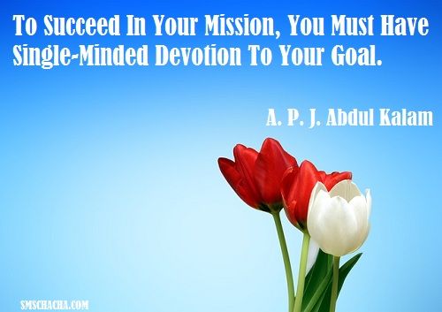 Success And Goal In Life Sms Message